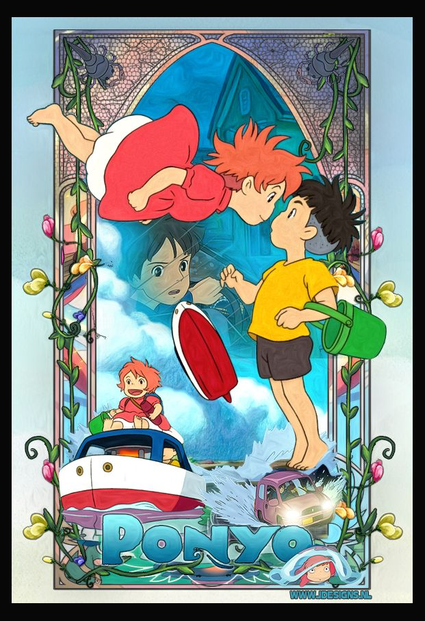 ponyo on the cliff by the sea by
