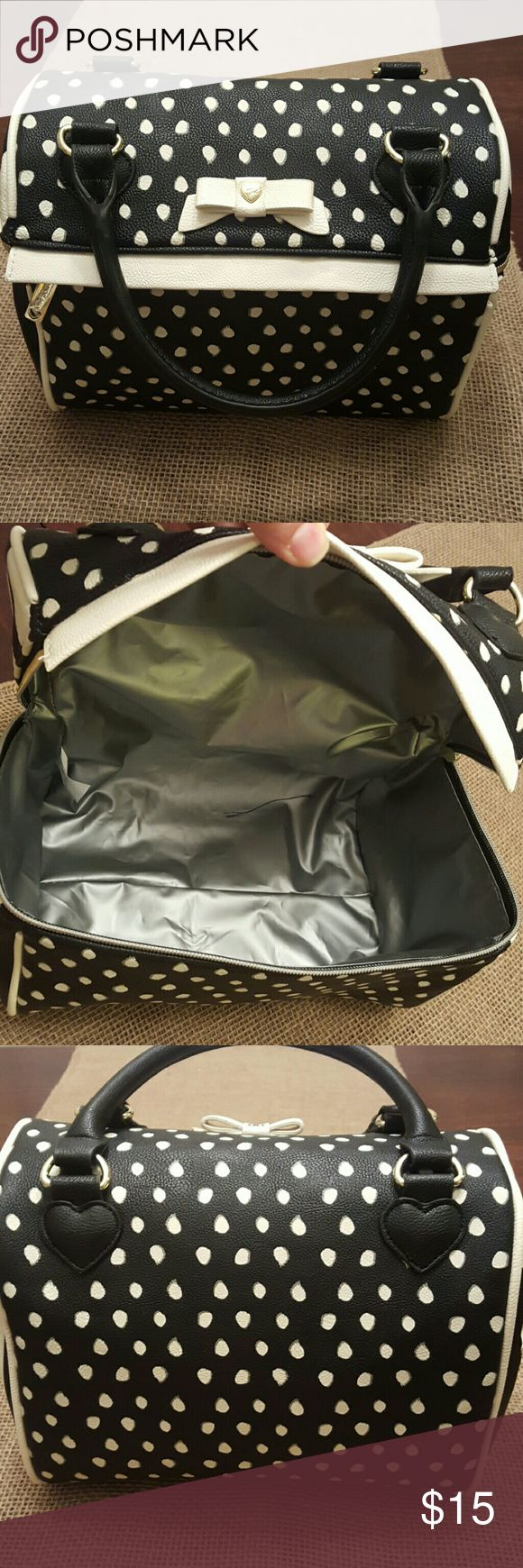 Insulated Lunch bag Super cute leather black and white insulated (water proof) Lunch bag Never used Perfect gift ?? Other