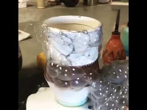 Cara unik membuat efek seperti bebatuan pada keramik mudah dan simple