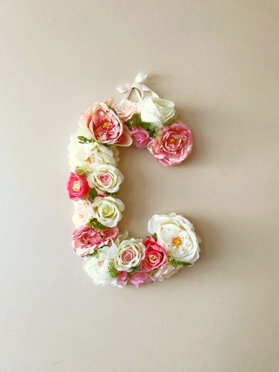 Flower Letters Floral Wedding Letters White Boho Chic