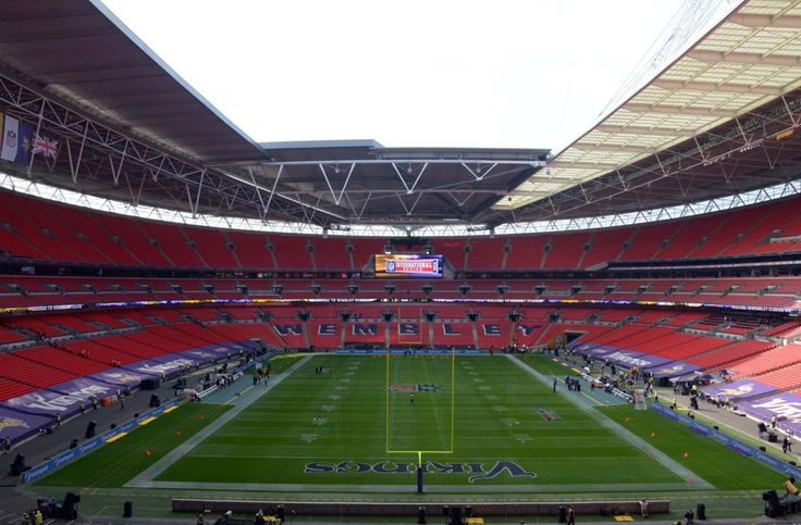 Sep 29, 2013; London, UNITED KINGDOM; General view of Wembley Stadium before the NFL International Series game between the Pittsburgh Steelers and the Minnesota Vikings. (Kirby Lee-USA TODAY Sports)