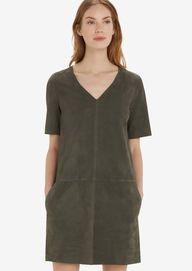 Kleid smaragd grey