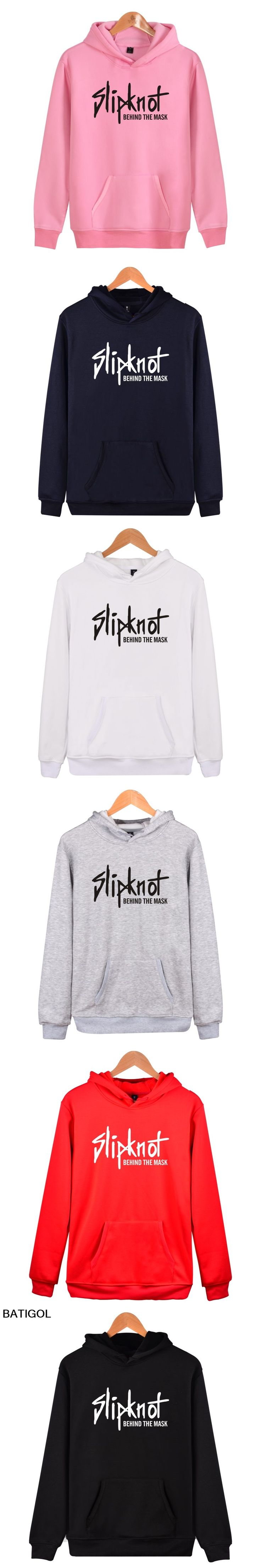 BATIGOL 2017 Slipknot Rock Band Heavy Metals Hoodies Fashion Kpop Men Cap Hooded Sweatshit Leisure Clothes Plus Size XXXXL