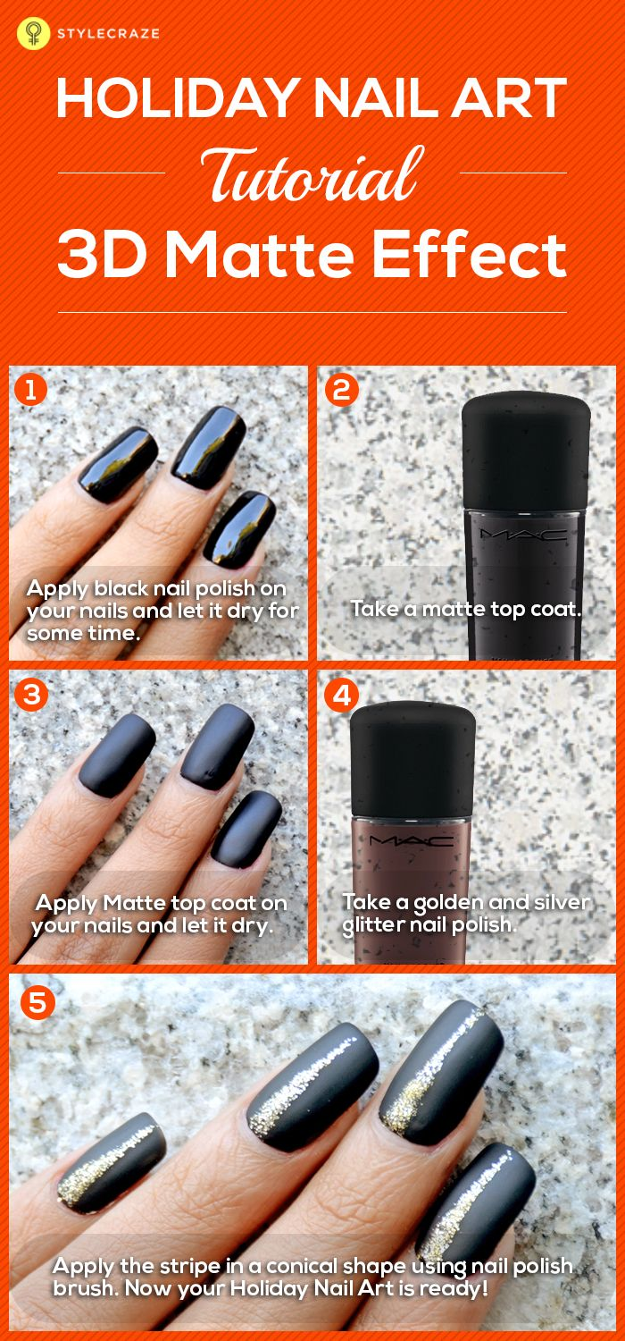 58 best matte nail polishes images on pinterest hairstyles 2 holiday nail art designs with stepwise tutorial and pictures prinsesfo Choice Image