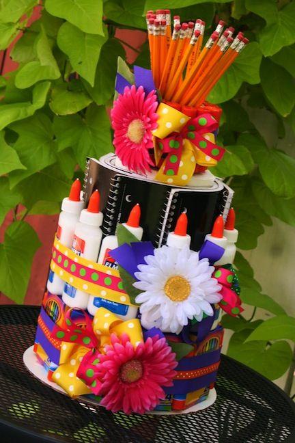 Teacher Appreciation Supply Cake
