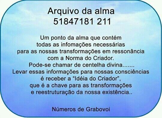 NÚMEROS DE GRABOVOI