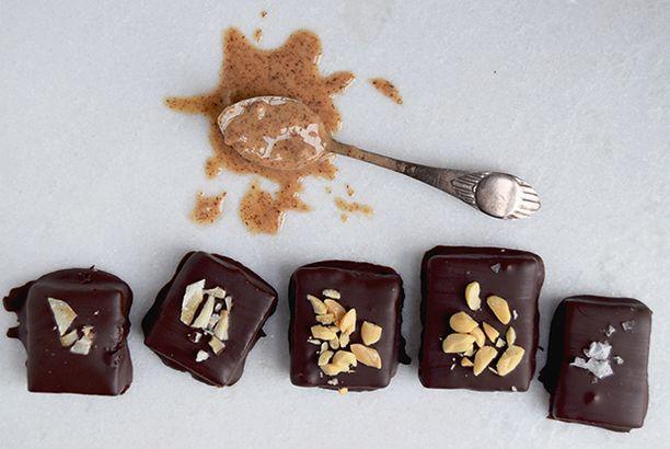 Mandelsmør-bidder – en sundere chokoladebar