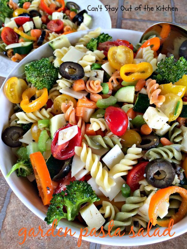 Garden Pasta Salad | Can't Stay Out of the Kitchen | this #pastasalad is filled with lots of fresh #veggies. #salad (Pinned 3.86k)