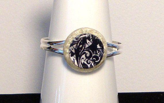 Orgone  orgonite bracelet with black and by OrgoniteCreations