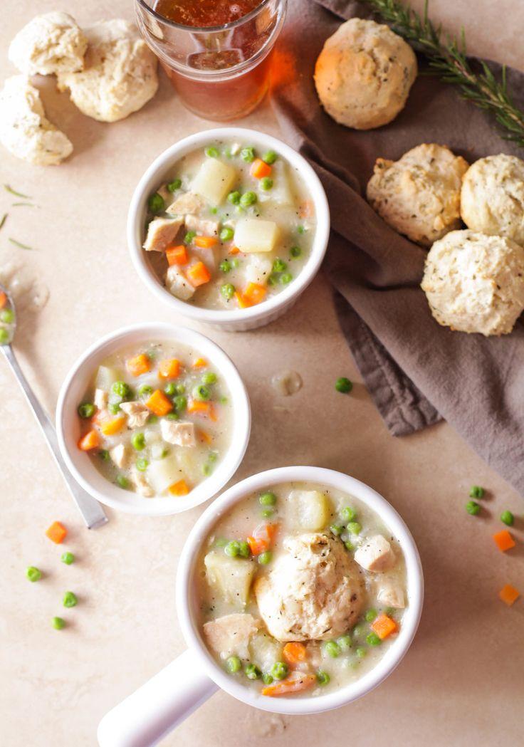 chicken pot pie potato chowder & rosemary drop biscuits - quinnsplace.com