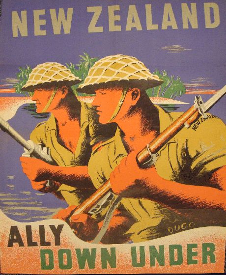 New Zealand poster: Ally Down Under.