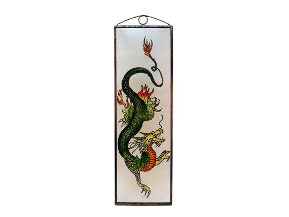 Chinese dragon - Painted Glass