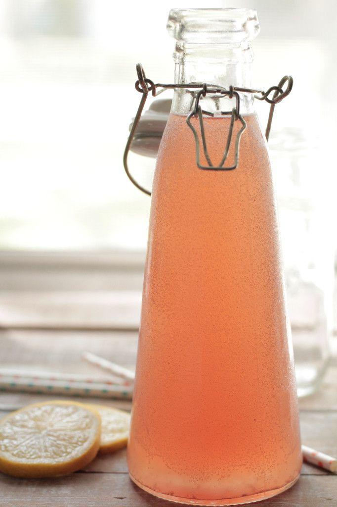 Homemade berry lemonade kombucha. A delicious, easy homemade probiotic drink.