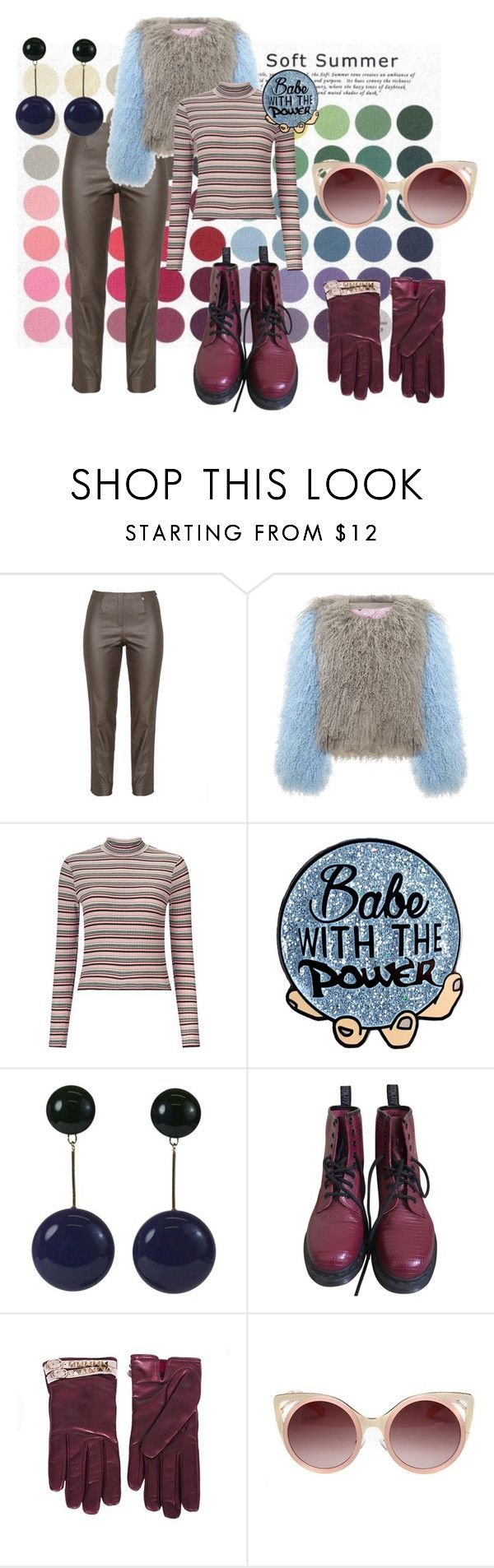 Soft Summer Yang Gamine Idea III by allboyallgirl on Polyvore featuring Miss Selfridge, Dr. Martens, Valentino and WithChic