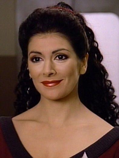 Star Trek the Next Generation's Counselor Deanna Troi (Marina Sirtis)