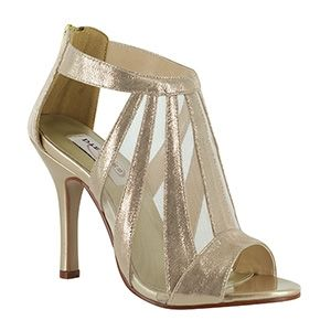 Dyeables 37914 | Gold Platform Shoes | Gold Prom Shoes | Silver Homecoming Shoes | Prom Dresses | www.GownGarden.com