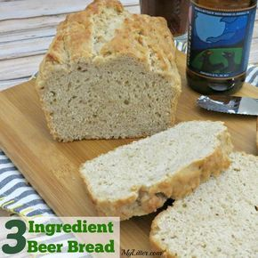 3 Ingredient Beer Bread - This quick bread recipe is so easy to make and ready in about an hour! Easy to customize with some add-in ideas too!
