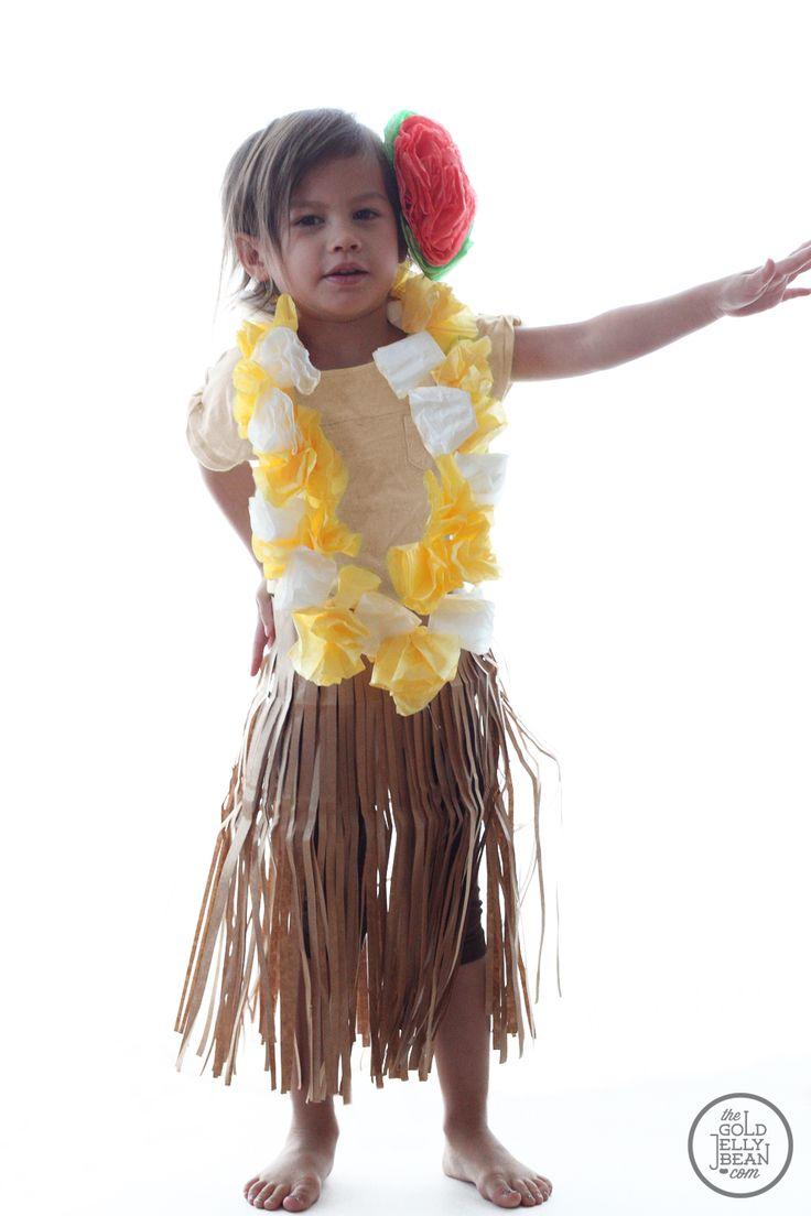 DIY Hula Girl Costume, Halloween, Dress Up