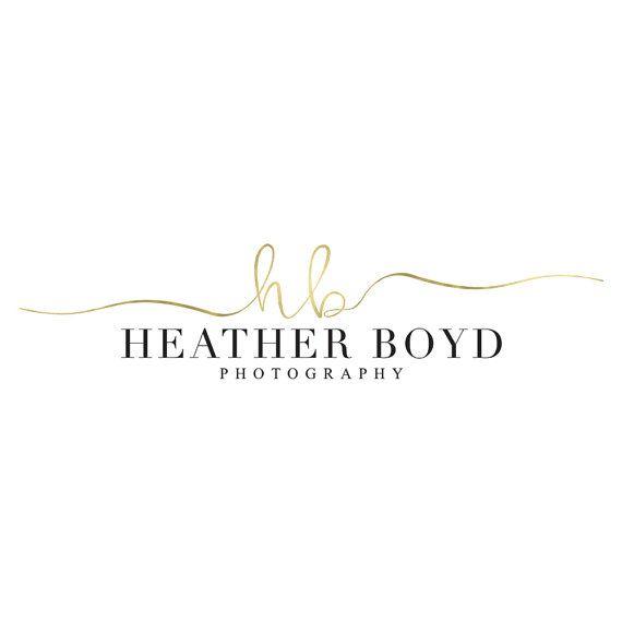 Elegante Swash Blattgold Fotografie Logo Design anfängliche Logo Signature Logo handschriftliche Logo