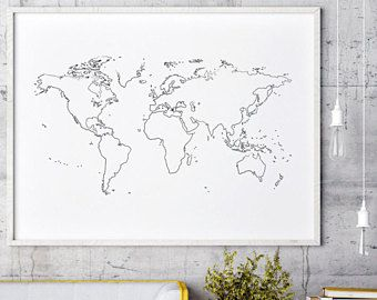 Outline world map outline white world map wall decor world map outline world map outline white world map wall decor world map white minimalist gumiabroncs Choice Image