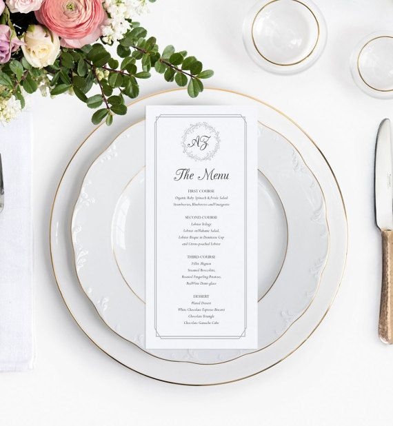 Best Wedding Menus Images On   Wedding Menu Cards