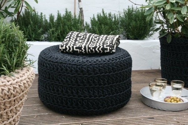 DIY chair for garden recycled car tire re use