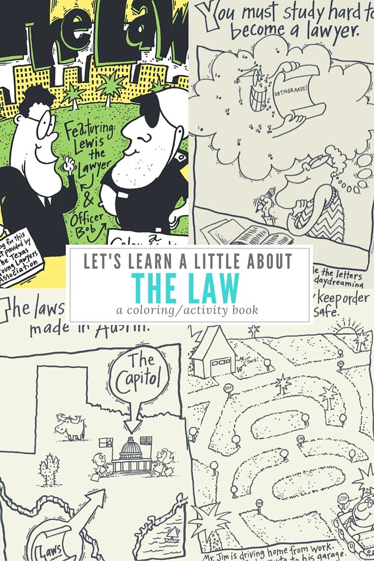 Let's Learn a Little About the Law is a coloring/activity book about Officer Bob and Luis the Lawyer and the importance each plays in keeping our community safe.