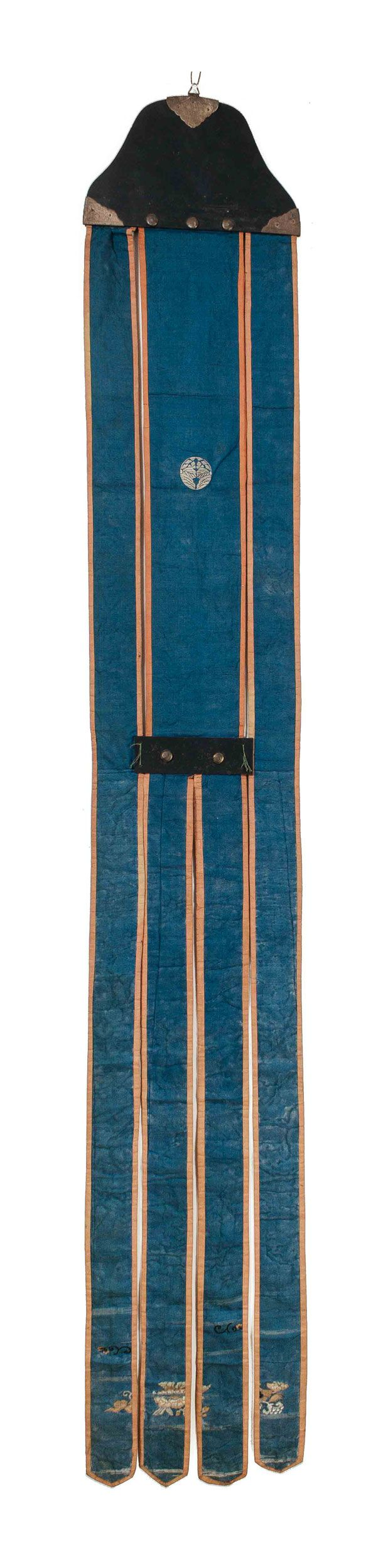 Japanese Edo Era Silk Temple Banner