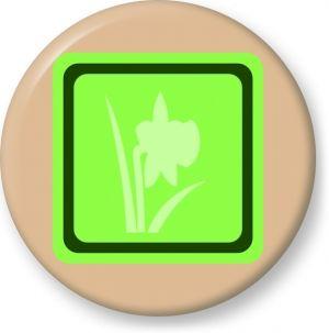 Spring symbol - Button Badge - Brooch - Gift