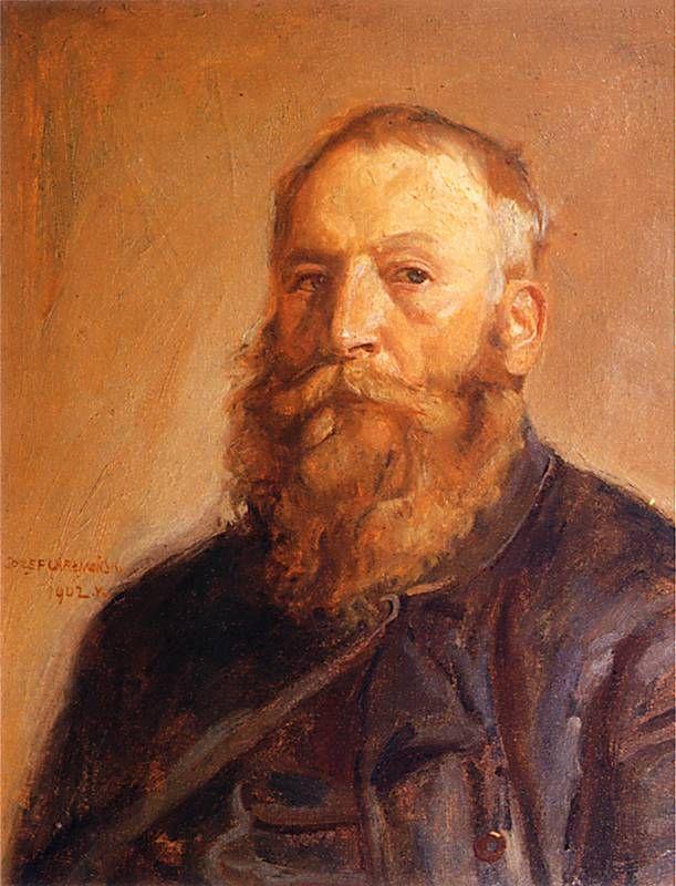 Autoportret..Józef Chełmoński 1849 - . 1914