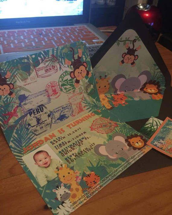 Invitación de pasaporte Safari