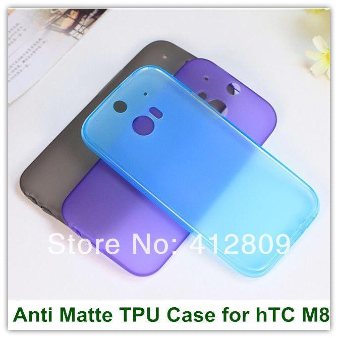 Htc один, simple конфеты желе противоскольжения матирование тпу задняя часть защита кожи для 2 M8 телефон мешок