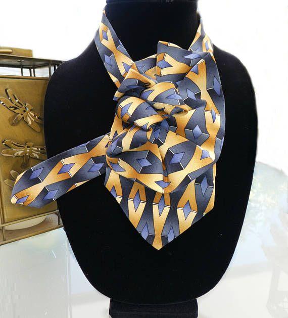 Collana cravatta Signore eco-moda accessori sciarpa di seta