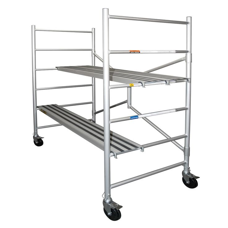 """Xtend+Climb 6' H x 56.5"""" W x 29"""" D Aluminum Round Portable Scaffold with 700 lb Load Capacity"""