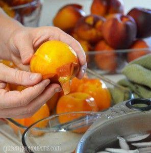 Peel-peaches-remove-skin-boil-water