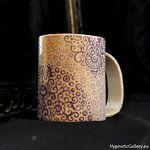 Ceramic hand painted cup. Ceramiczny kubek ręcznie malowany.
