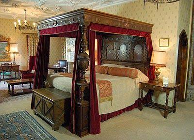 Red Draped Bed, Thornbury Castle, UK. Fine FurnitureAlison ...