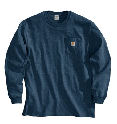 Carhartt Workwear Long-Sleeve T-Shirts for Men - Navy - 4XL
