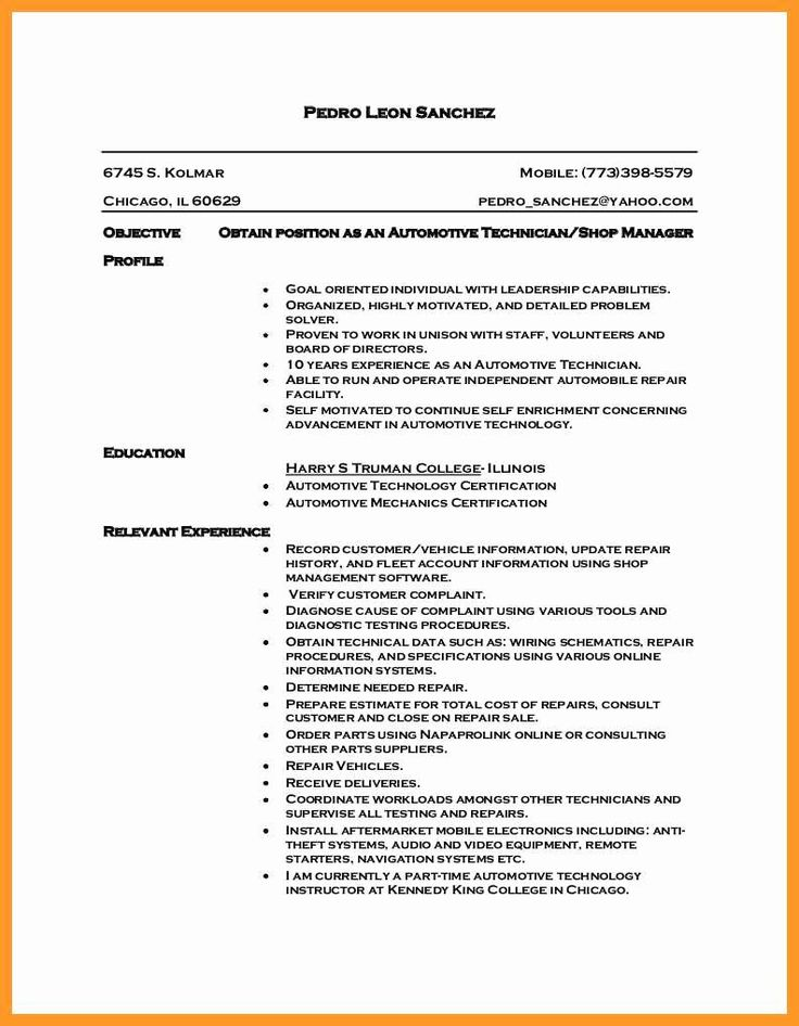 23 Diesel Mechanic Resume Examples in 2020 (With images