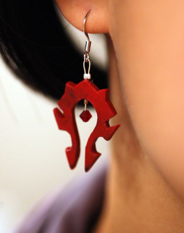 Horde Earrings. These are awesome!