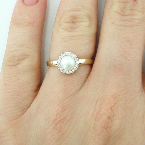 The 25 Best Pearl Engagement Rings Ideas On Pinterest
