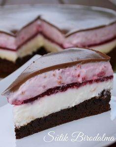 Málnás joghurt torta