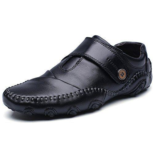 Ceyue Men's Octopus Comfort Driving Car Soft Flats Loafers Casual Boat Shoes-black-11