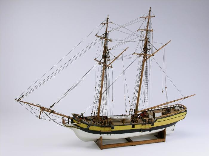 Model ship of the HMS Nancy