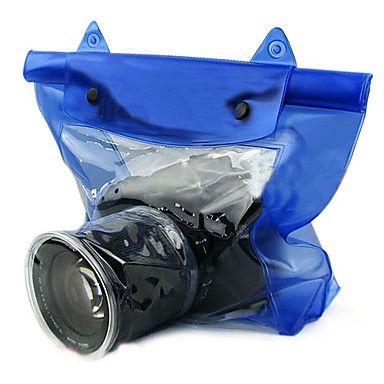 hoge kwaliteit dslr slr camera waterdichte tas duurzaam droog tas voor camera foto onder water (blauw)