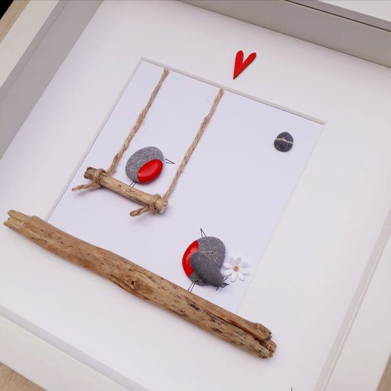 Robin Kiesel Bild, Robin auf einer Schaukel, Vorschlag Bild, gerahmte Pfau Kunst, Valentinstag, Geburtstagsgeschenk, Verlobungsgeschenk   – Leben