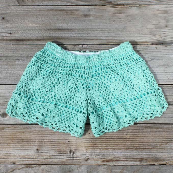 #mint #crochet #shorts #tumodaurbana http://tumodaurbana.com