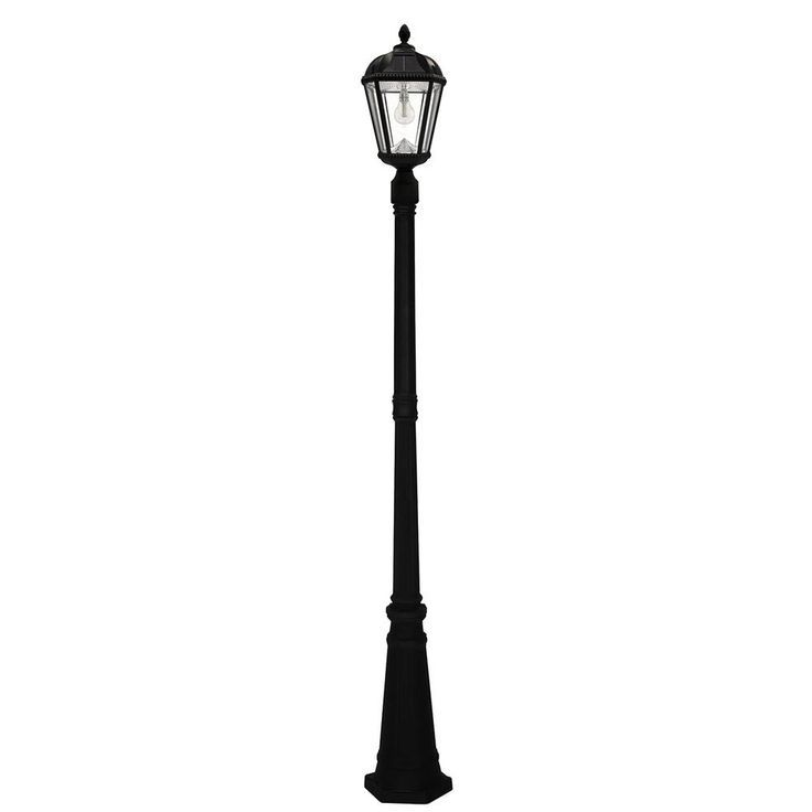 Royal Bulb Series Single Black Integrated Led Outdoor Solar Lamp Post Light With Gs Solar Led Light Bulb Gs 98b S Blk Solar Lamp Post Light Solar Led Lights Solar Lamp Post