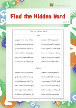Find the hidden word worksheets students and for Find a builder