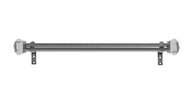 Side mount curtain rod in nickel from Houzz....  http://www.houzz.com/photos/42303874/1-1-8-Titan-Duet-Stationary-Side-Panel-Rods-20-Saturn-Finial-Brushed-Nickel-transitional-curtain-rods